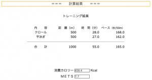 53日目水泳記録1