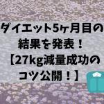 ダイエット5ヶ月目の結果を発表!【27kg減量成功のコツ公開!】